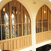 Conservation joinery work inside a church completed to the highest standards of carpentry