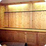 Bespoke shop fittings, hand made by VM Dundas, joiners and carpenters